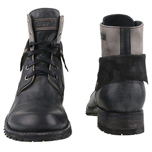 Sendra Boots - Botas de Piel para hombre Negro negro/gris
