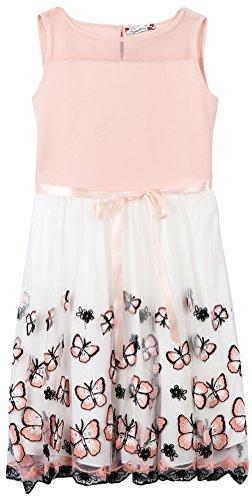Speechless Girls' Big Butterfly Party Dress, Blush/Black, 16