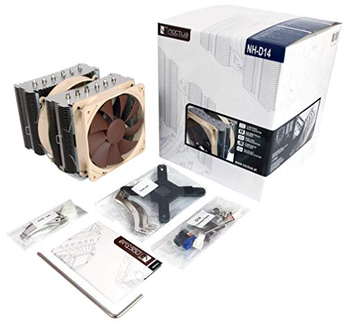(Noctua NH-D14, Premium CPU Cooler with Dual NF-P14 and NF-P12 Fans (Brown))