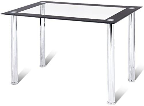 Amazoncom Tangkula Dining Table Modern Leisure Home Kitchen Glass