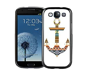 Custom Samsung Galaxy S3 Case Colorful Anchor Aztec Designer Cell Phone Soft Silicone Rubber Black Cover Accessories