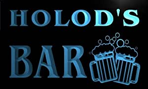 w096212-b HOLOD Name Home Bar Pub Beer Mugs Cheers Neon Light Sign