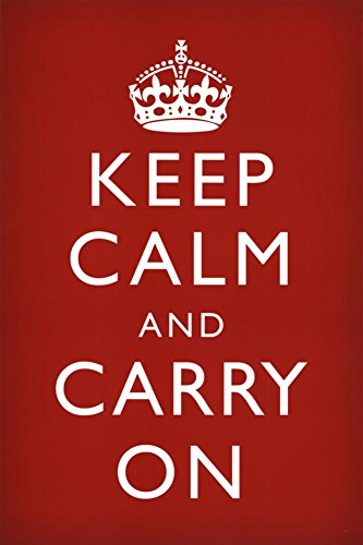 Keep Calm & Carry On Red Poster Art Print