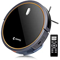 Coredy Robot Vacuum Cleaner, Robotic Vacuum with Mop and Water Tank, High Suction Vacuuming to Medium-Pile Carpets, Wet/Dry Mopping Hard Floor, Filter for Pet, Self-Charging, Daily Schedule Cleaning