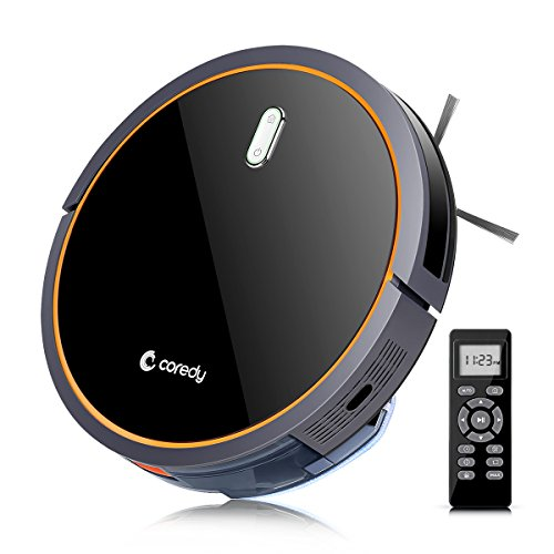 Coredy Robot Vacuum Cleaner, Robotic Vacuum with Mop and Water Tank, High Suction Vacuuming to...