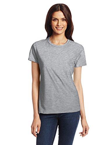 Medium Gray T-shirt (Hanes Women's Nano T-Shirt, Medium, Light Steel)