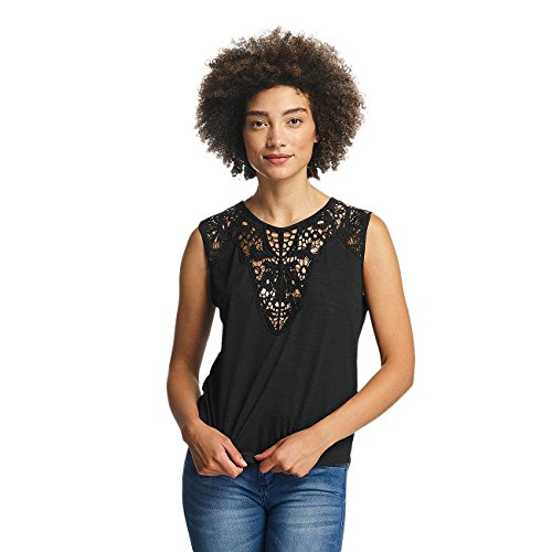 Hailys Mujeres Ropa superior / Top Oni Lace negro