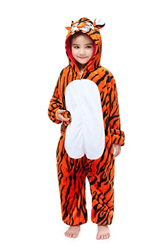 Kids Animal Onesie Unicorn Pajamas Christmas Halloween Cosplay Costume Tiger 140