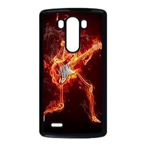 ZK-SXH - Flame Skull Brand New Durable Cover Case Cover for LG G3, Flame Skull Cheap Case