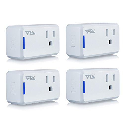 Ora Alexa-Enabled Wi-Fi Mini Smart Plug, White (Pack of 4)
