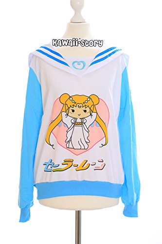 T-501 blau Sailor Chibi Moon Chibiusa Sweatshirt Pullover Cosplay Japan Harajuku
