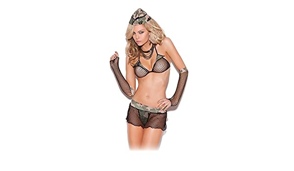 22186df5ded Amazon.com  Sexy Soldier Women s Major Hottie Adult Role Play Cosplay Lingerie  Costume Set  Clothing