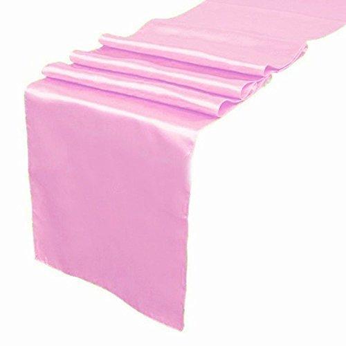 150サテン12 x 108インチテーブルランナー宴会ウェディングパーティー&イベント – ピンク ピンク 150 Satin Table Runner Pink 150 ピンク B01IA1MSP0