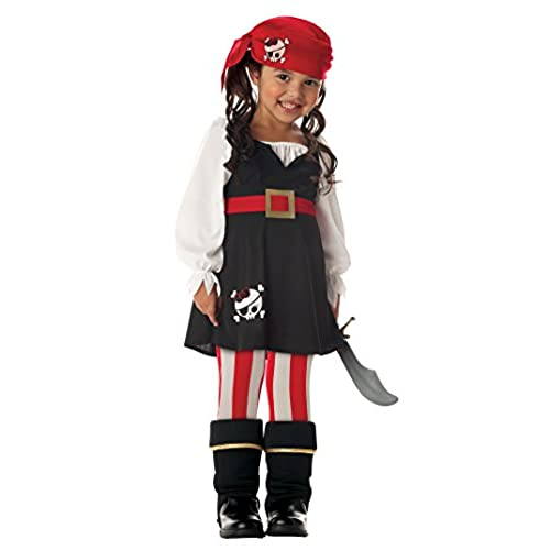Precious Lilu0027 Pirate Girlu0027s Costume Toddler M (3-4) One Color  sc 1 st  Amazon.com : costumes issaquah  - Germanpascual.Com