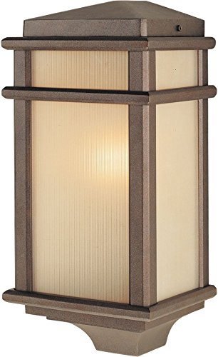 (Feiss OL3403CB Mission Lodge Outdoor Lighting Wall Pocket Sconce, Bronze, 1-Light (7