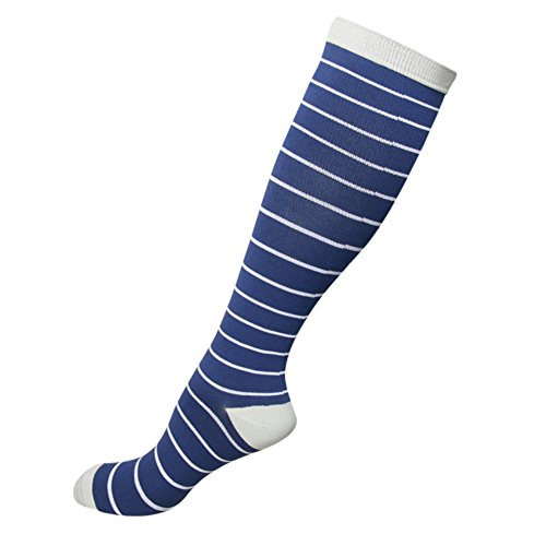 HLTPRO Compression Socks for Women & Men - 1 to 6 Pairs 20-30 mmHg Compression Stockings for Travel, Running, Pregnancy, Nurse