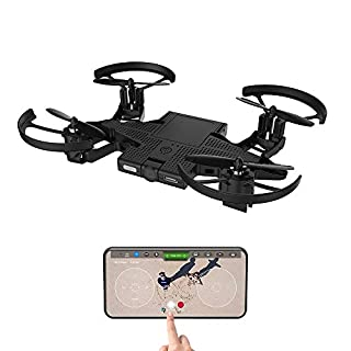 New SELFLY, RC Drone with HD Camera, Foldable Propellers and Face Tracking Technology Suitable,Gesture Controlled Quadcopter Drone for Over 14 Years Old, Flight Control via iOS and Android App
