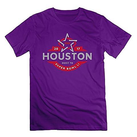 Men's Super Bowl 51 Li Houston 2017 100% Cotton Tees (Houston Crib)