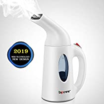 BIPOWER Fabric Steamer, Newest Design Powerful, Home And Travel Handheld Steamer For Clothes, 60 Seconds Heat-Up Clothing Steamer With Automatic Shut-Off SafetyProtection