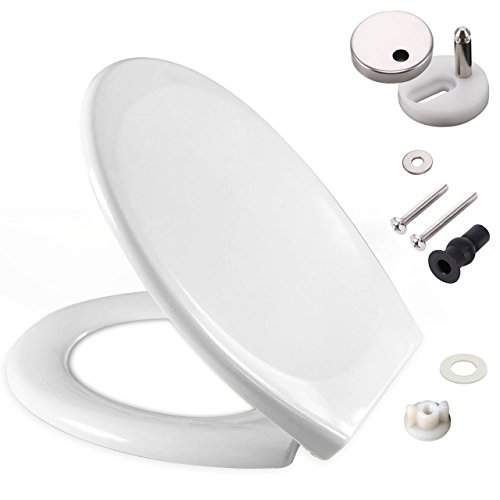 Toilet Seat featuring Soft-Close, Easy Clean, Dual Top/Bottom Fixing Hings...