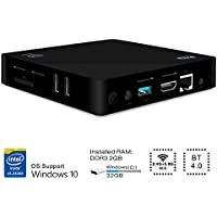 Mini PC, GBTIGER 2GB/32GB Intel Atom x5-Z8350(2M Cache, up to 1.92 GHz), Quad Core Windows 10 64bit 2.4G+5.8G WIFI, HD Graphics 400,4K/1000M LAN