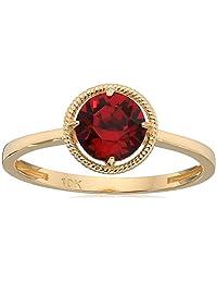 10k Gold Swarovski Crystal July Birthstone Ring, Size 7