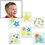 Fun Express Glow-In-The-Dark Star Tattoos 72 Pieces Toy
