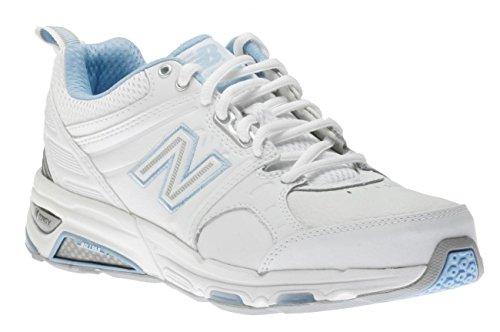 New Balance Women's WX857 Cross-Training Shoe,White/Blue,...