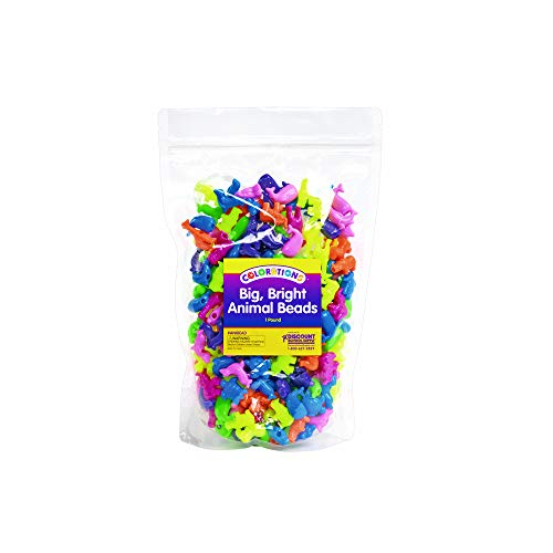 Colorations Big, Bright Animal Beads - 1 lb. (Item # ANIBEAD) ()