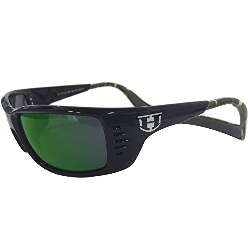 Hoven Mens Meal Ticket Polarized Sunglasses, Black-Green Camo/Green - Sunglasses Bass