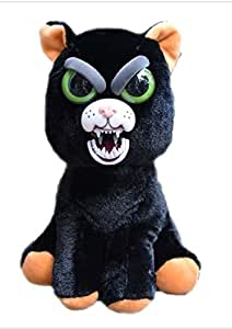YaSpark Feisty Pet Black Cat: Katy Cobweb Stuffed Attitude Plush Animal