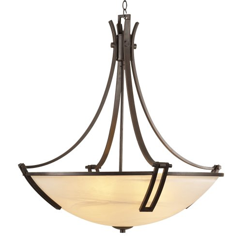 (PLC Lighting 14866 ORB Chandelier from Highland Collection)