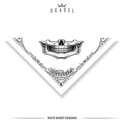 OGABEL Unisex Bandit Bandana White (Lakers Costume)