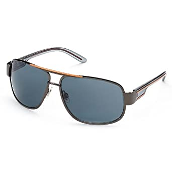 36a858f42b Amazon.com  Dockers Colored Strip Aviator Sunglasses  Clothing