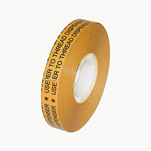 JVCC ATG-7502X ATG Tape (High Tack): 1/2 in. x 36 yds. (Clear Adhesive on Gold Liner)
