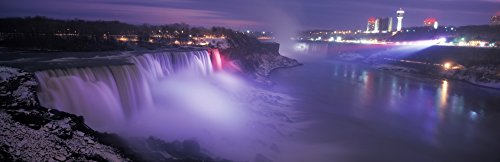 Posterazzi Winter scene at Niagara Falls at dusk New York State USA Poster Print by Panoramic Images (18 x -