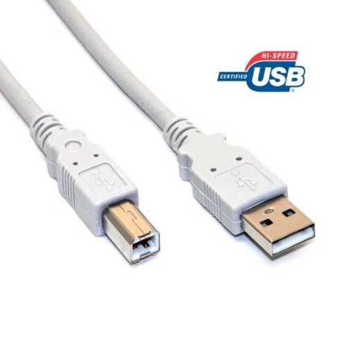 10 Feet High-Speed USB 2.0 printer cable A to B for HP Inkjet 2500cxi ()