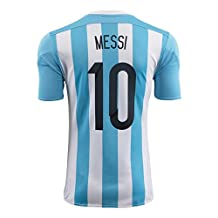 Messi #10 Argentina Home Soccer Jersey 2015