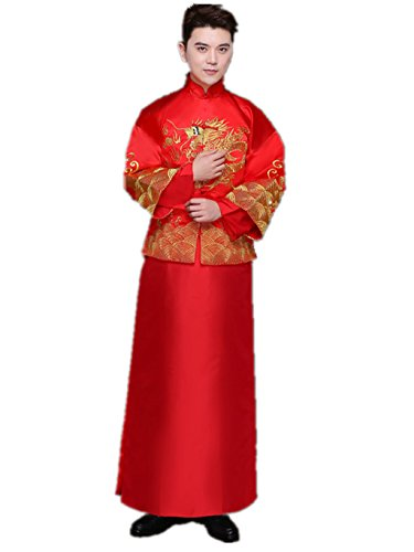 Brideroom Wedding Dress Mandarin Jacket ImperialRobe Tang Suits by YY-Bridegroom Wedding Suit