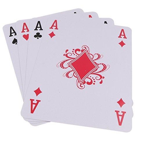 Baoblaze A4サイズ フルデッキ スーパービッグ ポーカー トランプカード ボードゲーム