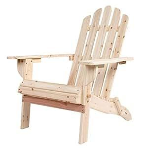 VH FURNITURE Silla de salón plegable de madera para exteriores, muebles de jardín