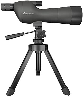Emarth 20-60x60SE Straight Spotting Scope with Tripod, Optics Zoom 39-19m/1000m (Army Green)