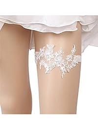 Bhwin Rhinestones Lace Bridal Garter Belt Set Vintage Beaded Wedding Garter