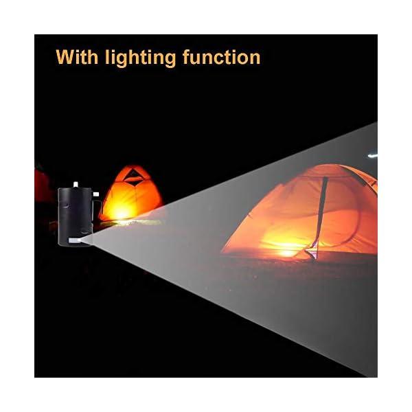 Leiyini Tragbare Camping-Duschpumpe Außendusche Elektrische wiederaufladbare Camping-Dusche Kompakter Handbrausekopf…
