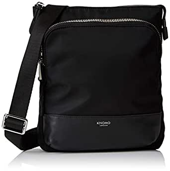 "Knomo Mayfair Capsule Carrington, 10"" Mini Cross-Body Bag, with Device Protection, RFID Pocket and KNOMO ID, Black"