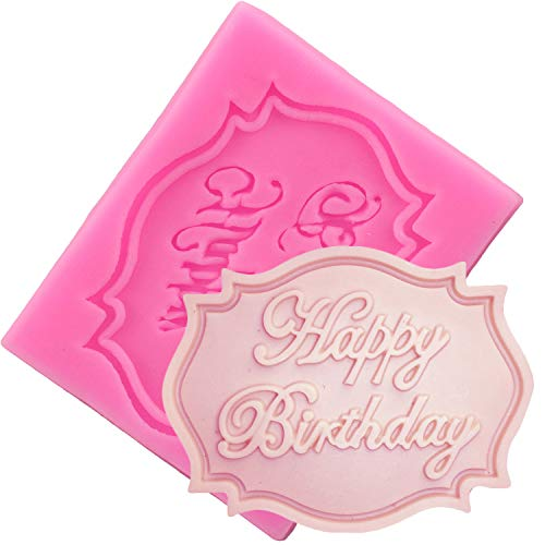 Happy Birthday Cake Mold Happy Birthday Letter Form Silicone Mold Chocolate Fondant Cake Decoration Tools Cupcake Baking Mould Candy Fimo Clay Molds