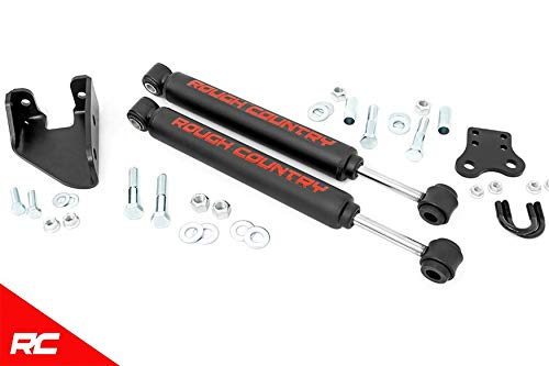 Rough Country 87307 Dual Steering Stabilizer compatible w/ 1987-1995 Jeep Wrangler YJ