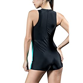 - 41pj9z1nbFL - beautyin Women's One Piece Swimsuits Boyleg Sports Swimwear
