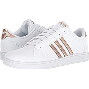 adidas Originals Unisex-Kids Baseline Sneaker, White/Copper Metallic/Black, 13.5K M US Little Kid