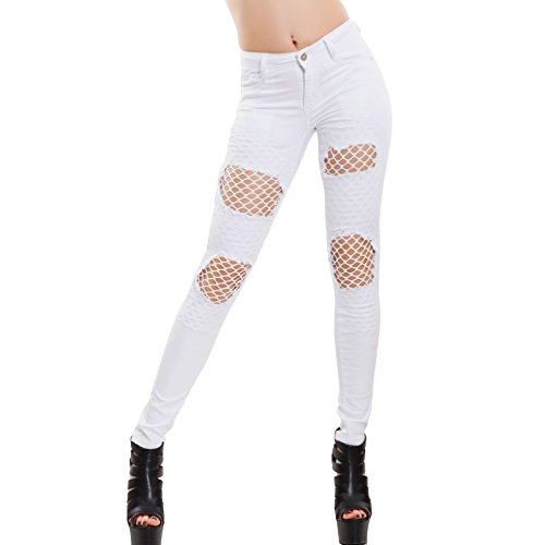 Noir Bianco Toocool Skinny Femme Jeans Xs trXXqHp